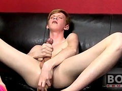 Teen twink redhead fucks big plaything into his pain in the neck
