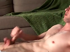 Furious solitarily manhandle with a hot cumshot