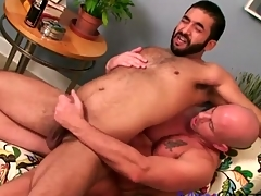 Soft bear ass fucked by a suave guy