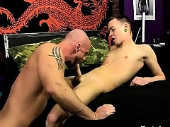 Male models He slides his shaft purchase Chris' nerve-racking hole, teari