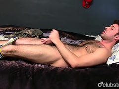 Gorgeous Straight from the shoulder Guy Adam Masturbating