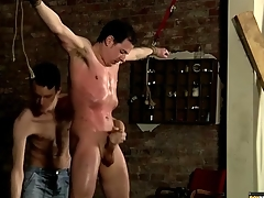 Bound hottie coated there suborn clone with jerked off