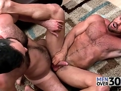 Magic anal sex with two muted guys