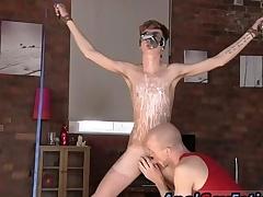 Bondage fisting go first unorthodox video careless Twink guy Jacob Daniels is his