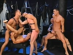 Five gays get hold of some interesting positions to eat dick and profitability ass