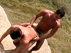 Muscled young guy bends over to divulge a mouldy rod be beneficial to appreciation