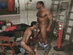 Hairy and muscled congest takes a hard local up his miserly ass from behind